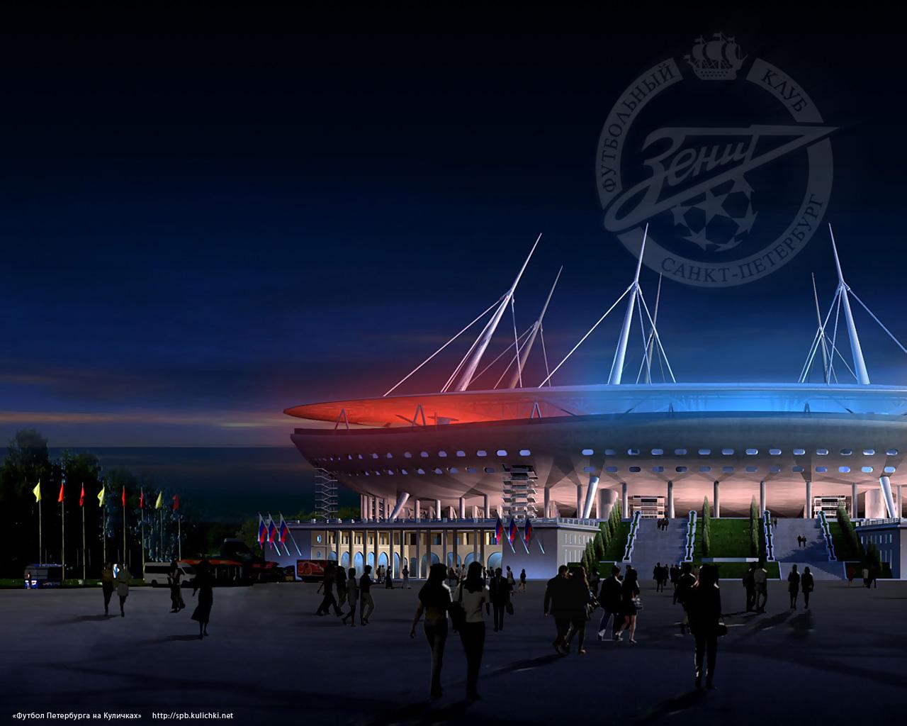 Oboi Na Rabochij Stol Novyj Stadion Zenita Futbol Peterburga Na Kulichkah